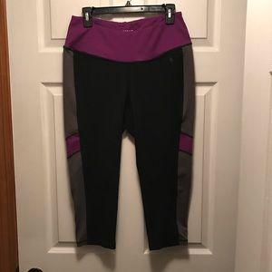 Torrid Active Purple Color Block Capris Size 1